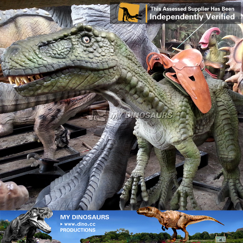 Kiddie Park Animatronic Walking Dinosaur Rides