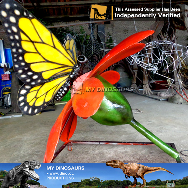 Shopping Mall Decorative Animatronic Insect Butterfly