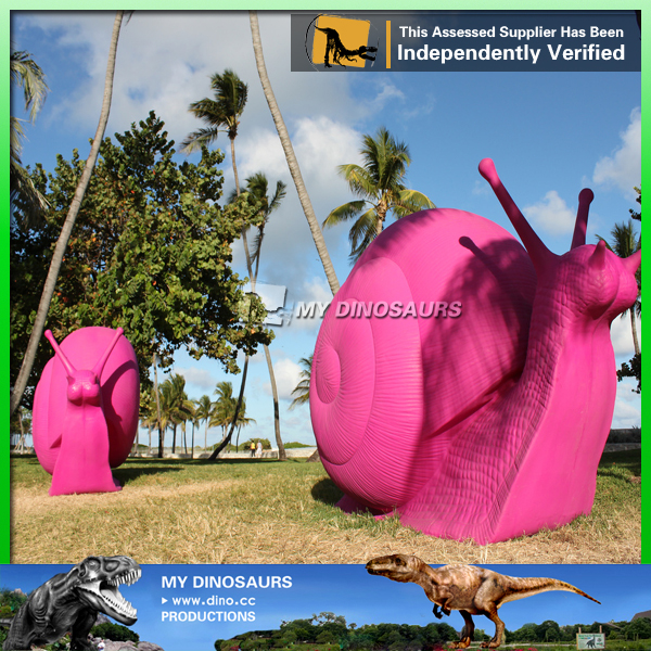 Outdoor Park Decorative Fiberglass Giant Insect Of Snail