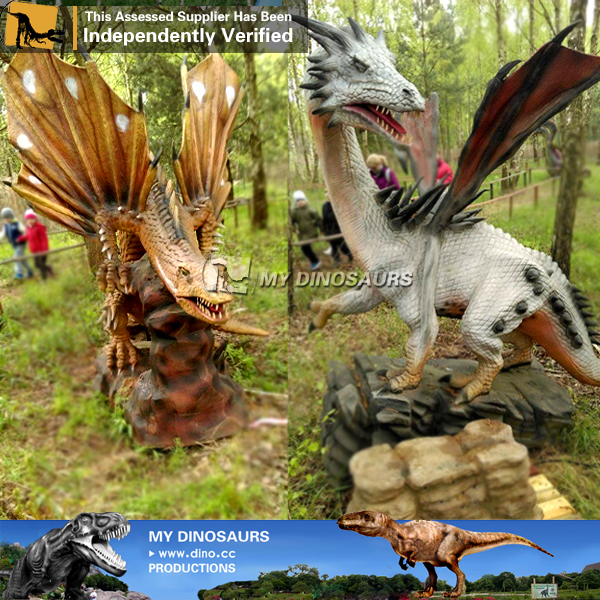 Outdoor Playground Decoration Robotic Dragon for Sale