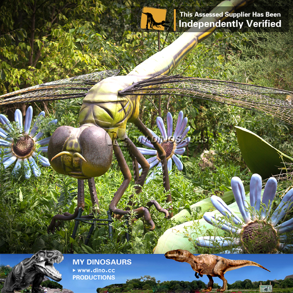 Outdoor Park Large Size Animatronic insect dragonfly