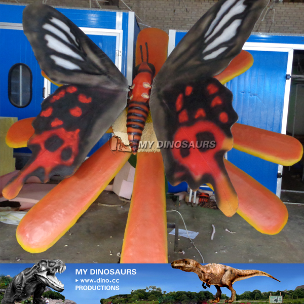 Decorative Animatronic Butterfly With Flower