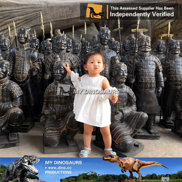 Miniature Park Statue Of Terra Cotta Warriors