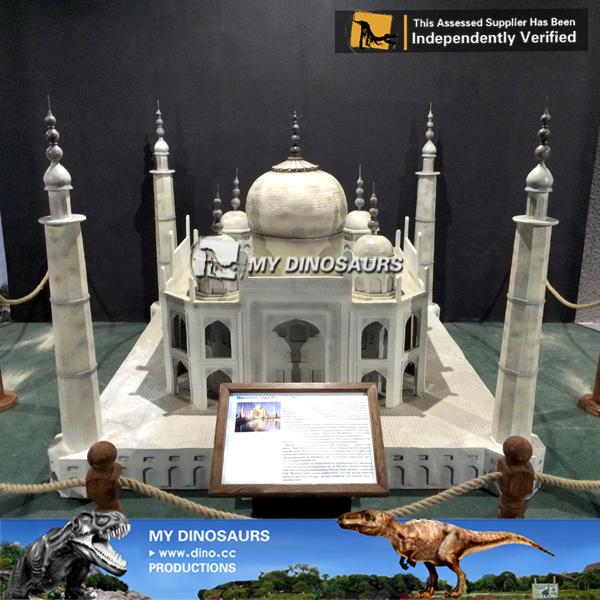Fiberglass Miniature Taj Mahal For Mini World