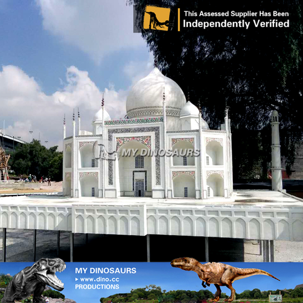Miniature Park Famous Building Taj Mahal Sculpture For Sale