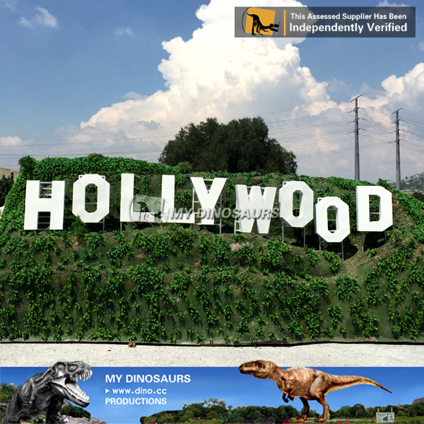 Scaled Miniature Building Hollywood Sign for Sale