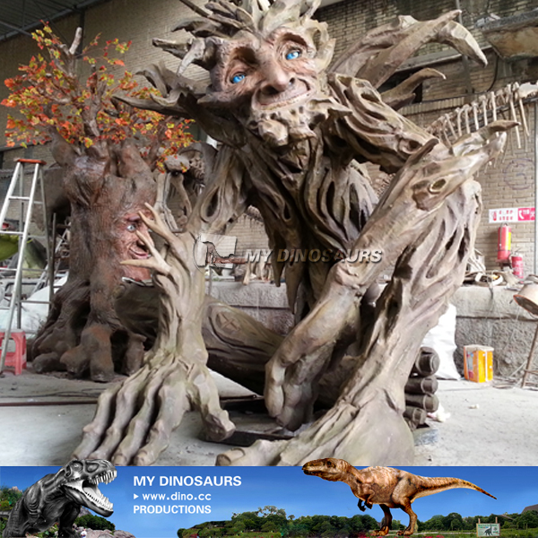 Outdoor Theme Parks Animatronic Talking Tree For Sale