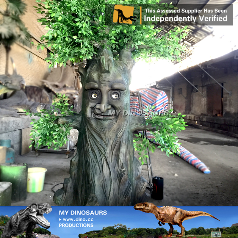 Wonderland Decoration Life Size Animatronic Talking Tree For Sale