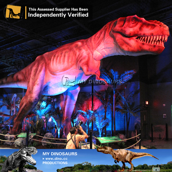 Outdoor Amusement Park Life Size Moving Dinosaur T REX