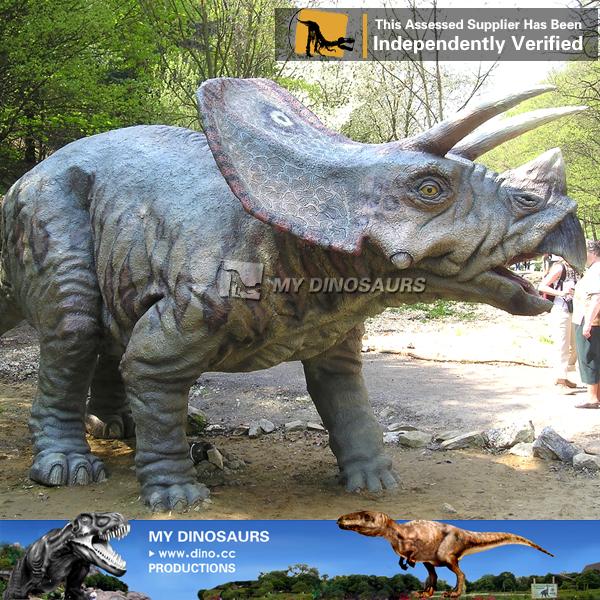 Amusement Park 3D Model Dinosaur Animatronic Dinosaur Triceratops