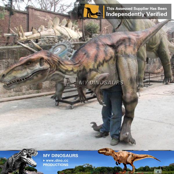 Life Size Dinosaur Costume Velociraptor for Theme Park