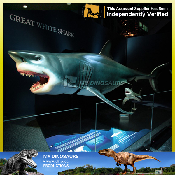 Sea Animal Life Size Animatronic Animal Shark Model