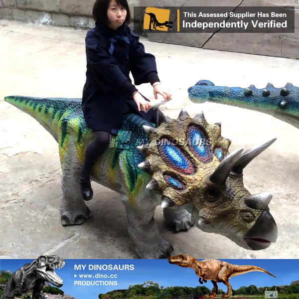 Children Park Rides Walking Dinosaur Rides Triceratops