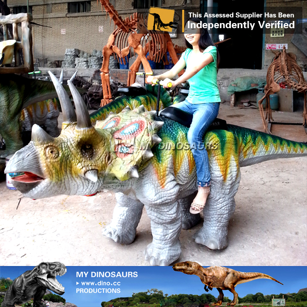 Kids Playground Robotic Dinosaur Ride Triceratops