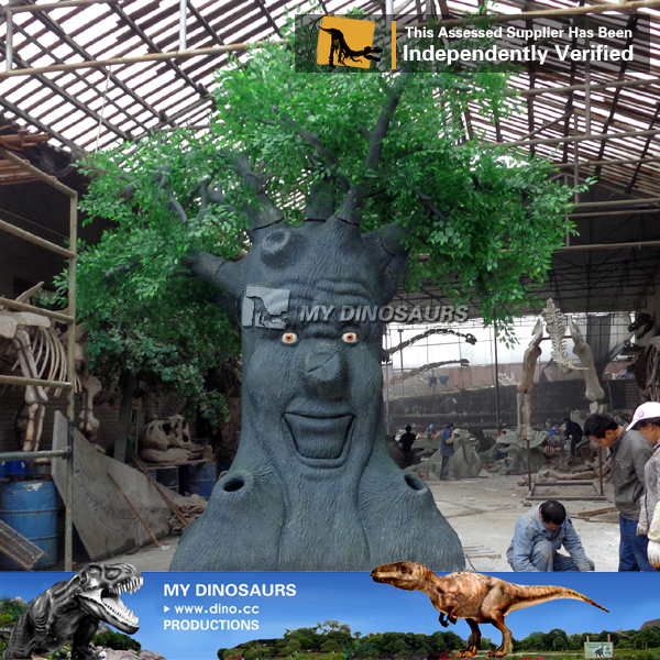 Outdoor Playground Animatronic Talking Tree Sculpture