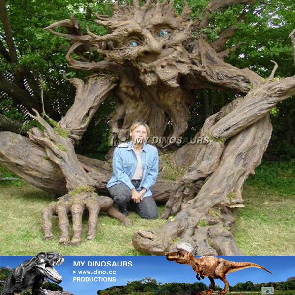 Life Size Interactive Animatronic Dryad Talking Tree For Sale