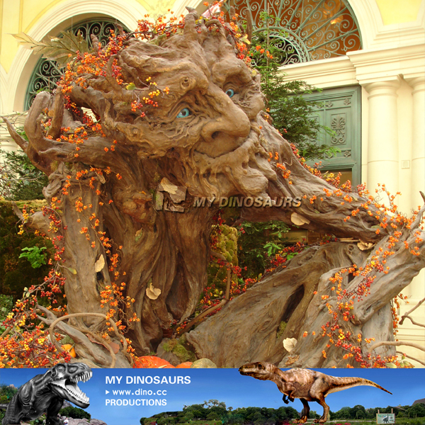 Waterproof Amusement Park Decoration Animatronic Talking Dryad