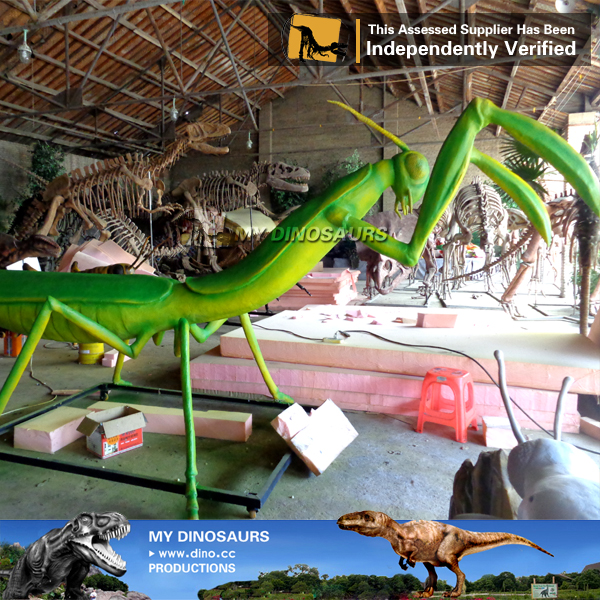 Theme Park Landscape Decoration Simulation Animatronic Insect Mantis
