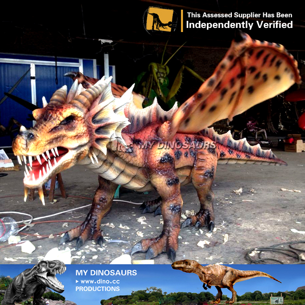 LED Lighting Eyes Animatronic Dragon For Shopping Mall