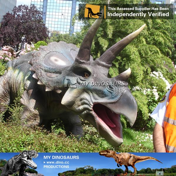 Fiberglass Dinosaur Sculpture of Triceratops