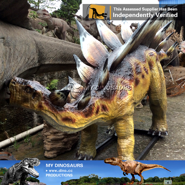 Playground Full Scale Fiberglass Dinosaur Stegosaurus Model