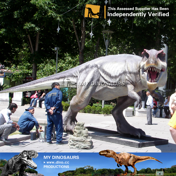 Fiberglass statue Life Size Dinosaur T rex For Theme Mini Golf