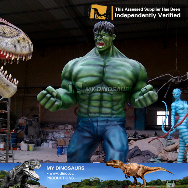 Movie Character Fiberglass Life Size Hulk Statue for Sale