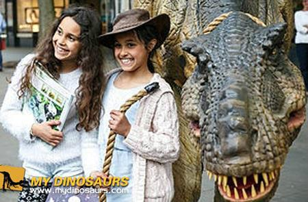 Animatronic dinosaur costumes for Halloween's trick