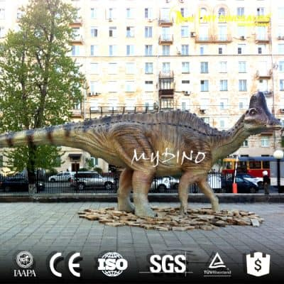 Life size Amurosaurus dinosaur statue 1a