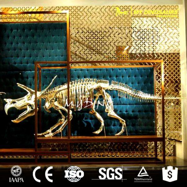 Showcase decoration golden dinosaur skeleton 6