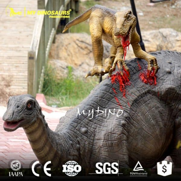 fighting dinosaur