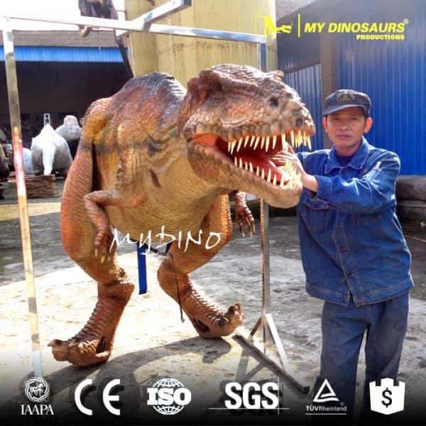 Lifelike dinosaur costume