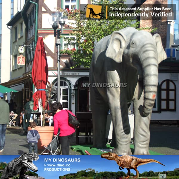 african animal statue simulation elephant model