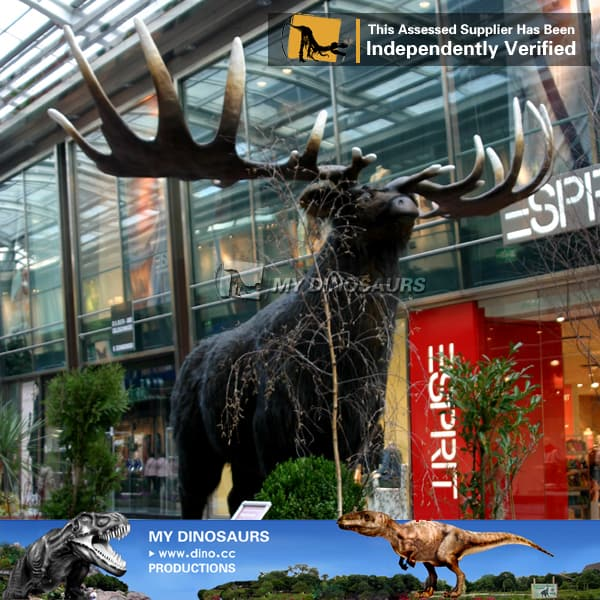 animated simulation ice age animal elk for theme park