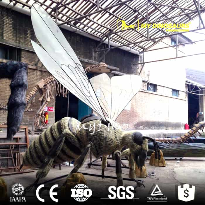 animatronic insect statue