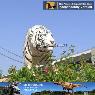 high simulation animatronic white tiger