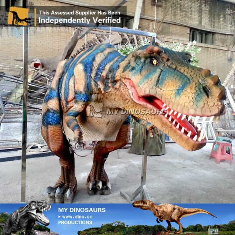 realistic dinosaur costume for jurassic theme park