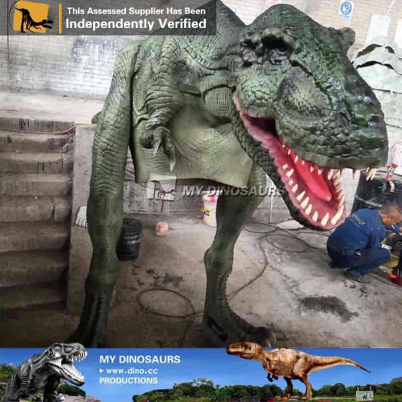 theme park realistic attractive life size dinosaur inflatable