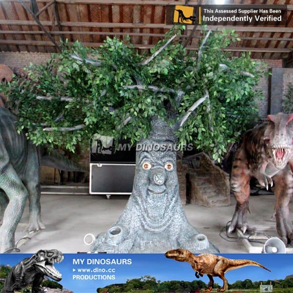 realistic animatronic talking tree