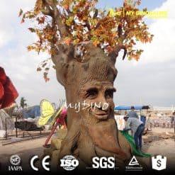 Animatronic red talking tree