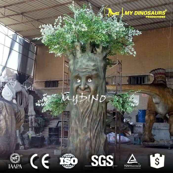 plastic decorative indoor playground equipments artificial tree