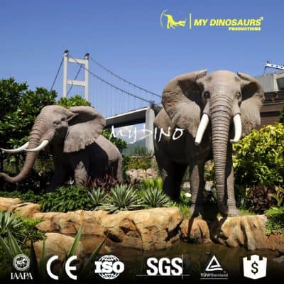 fiberglass animal elephant statues