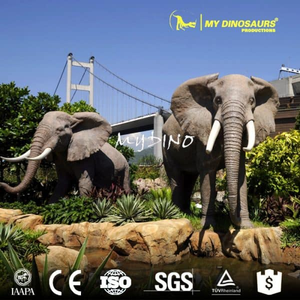 fiberglass animal elephant statues