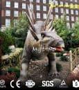 outdoor dinosaur park stegosaurus