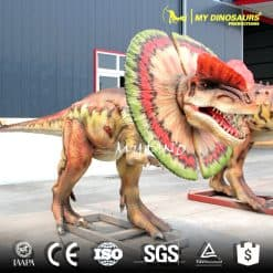 realistic dinosaur Dilophosaurus