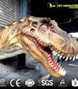 Artificial Animatronic Head of Dinosaur Wall Mounted