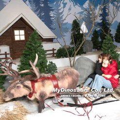 Christmas decorations animatronic reindeer
