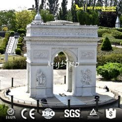 Miniature Park Sculpture Fiberglass & Resin Sculpture Triumphal Arch
