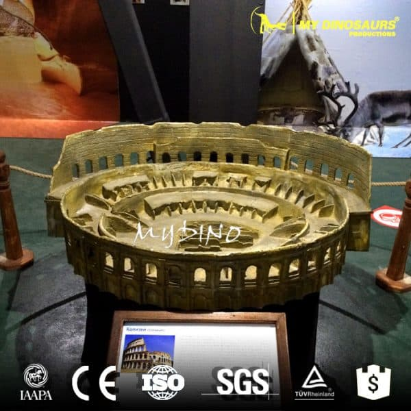 The Roman Colosseum in miniature
