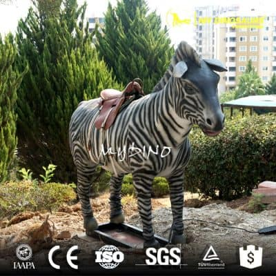 Stuffed Furry Animated Electric Zebra Ride on Furry Animal